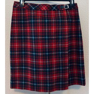 Pendleton Size 12 Virgin Wool Plaid Lined Skirt